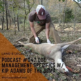 Podcast #47:  Doe Management Specifics with Kip Adams of the QDMA