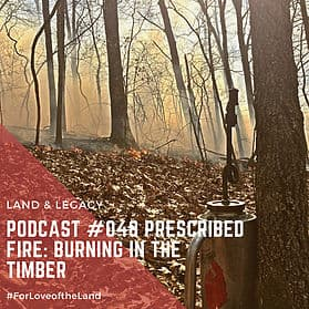Podcast #48:  Prescribed Fire: Burning in the Timber